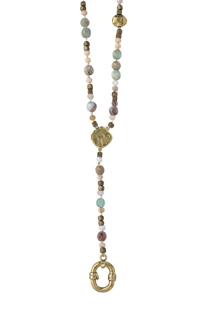Waxing Poetic Evolution Y Necklace - Opal (4357547950123)