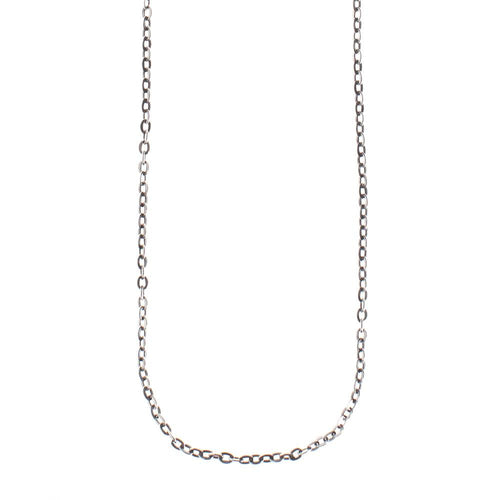 Waxing Poetic Flat Cable Chain - Sterling Silver (4357409833003)