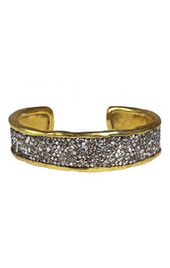 Waxing Poetic Kristal Cuff - Brass (4357587009579)