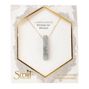 Scout Stone Point Necklace Labradorite / Stone of Magic