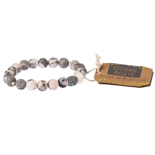 Scout Curated Wears Ocean Agate Stone Bracelet - Stone of Plentitude (1733257494571)