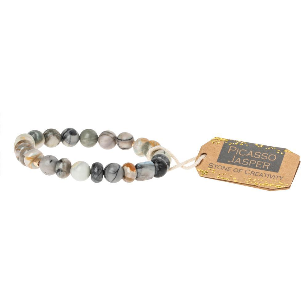 Scout Curated Wears Picasso Jasper Stone Bracelet - Stone of Creativity (1733255430187)