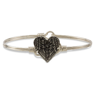 Luca + Danni Angel Wing Heart Bangle Bracelet (1789973889067)