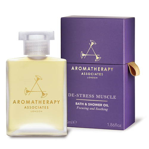 Aromatherapy Associates London De-Stress Muscle Vonios Ir Dušo Prausimosi Aliejus 55ml