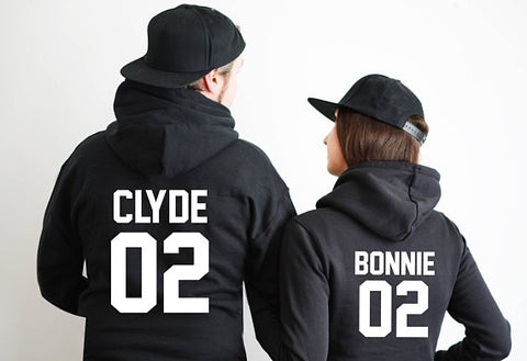 Bonnie and Clyde Hooded Sweatshirts