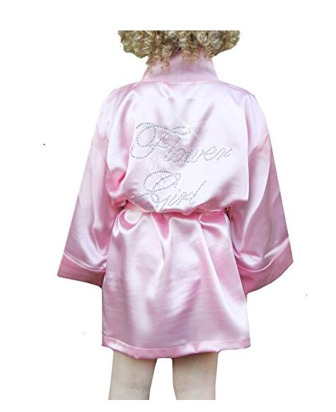 Flower Girl Satin Robe