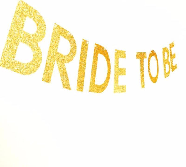 Cheers to the Bride to Be Glitter Banner