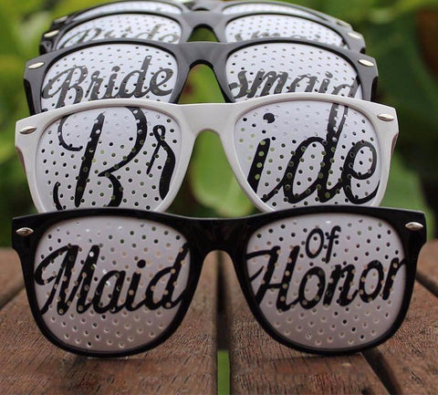 Party in Progress Bridal Party Glasses