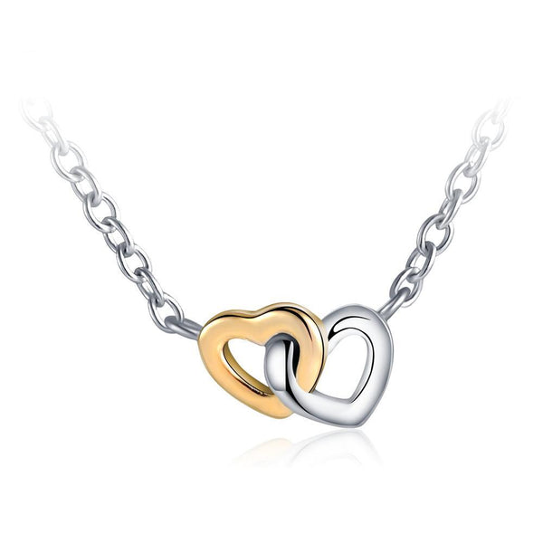 Two Hearts Become One Necklace