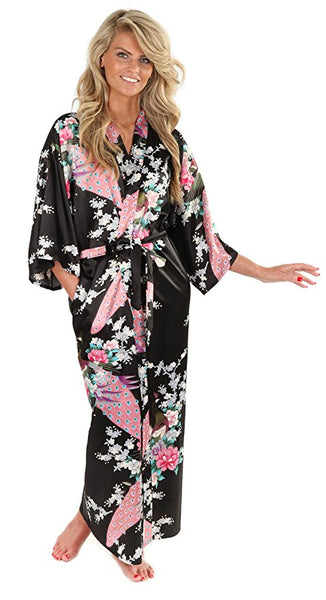 Love Your Tribe Floral Satin Robe