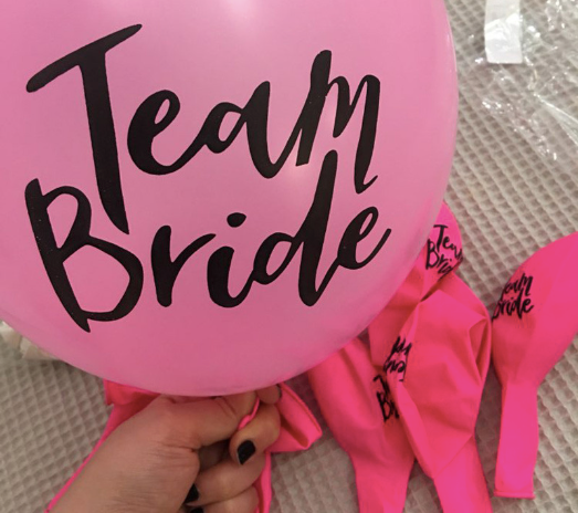 Unstoppable Team Bride Balloons