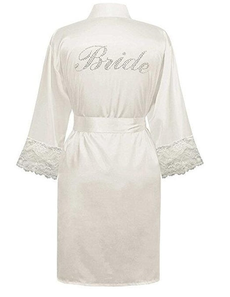 Enjoy Every Moment Satin Bride Robe