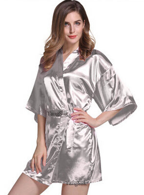 Can't Say I Do Without You Satin Robe