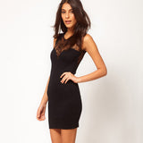 Elegant Black Lace Bodycon Dress