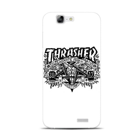 H321 Thrasher Transparent Hard Thin Skin Case Cover For Huawei P 6 7 8 9 10 Lite Plus Honor 6 7 8 4C 4X G7