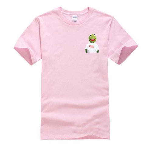 Men'S T shirt Pink 2018 New Suprem A Spoof Cartoon Fashion Printing Cotton100% 1:1 Casual Men/Women Cotton short sleeved t-shirt 1