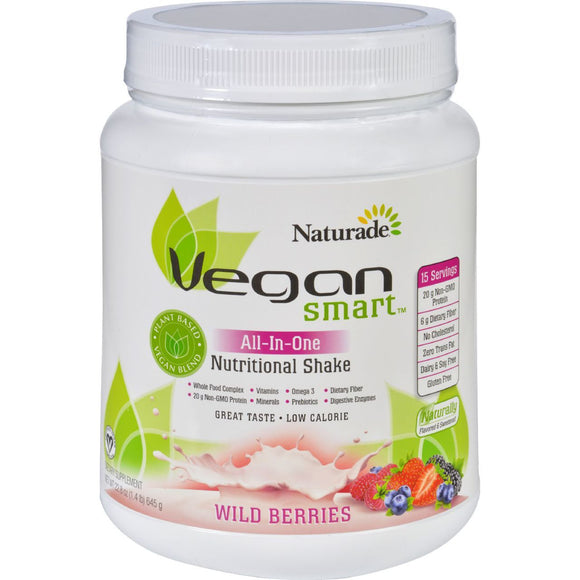 Naturade Nutritional Shake Vegan Smart All In One Wild Berries 22.8 oz