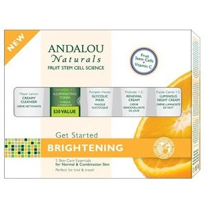 Andalou Naturals Brightening Kit 5 Pc (1x1KIT )