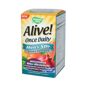 Nature's Way Alive! Once Daily Men's 50 plus Multi-Vitamin (1x60 Tablets)