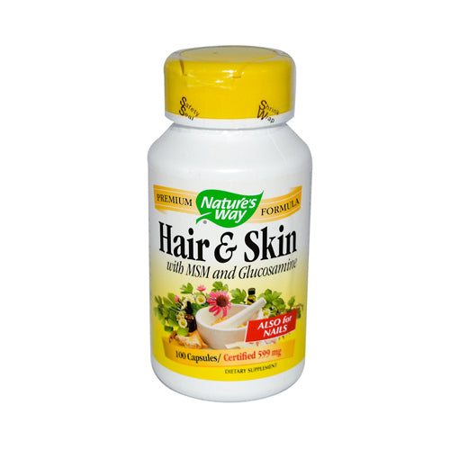 Nature's Way Hair and Skin with MSM and Glucosamine (100 Capsules)