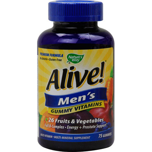 Nature's Way Alive! Men's Energy Gummy Multi-Vitamins (75 Chewables)