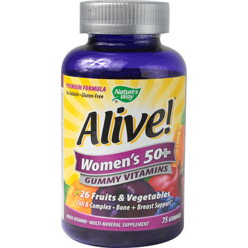 Nature's Way Alive! Women's 50+ Gummy Multi-Vitamins (75 Chewables)
