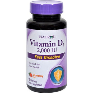 Natrol Vitamin D3 Wild Cherry 2000 IU (1x90 Mini Tablets)