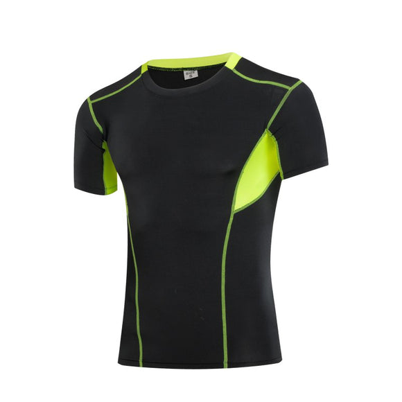 Print Men Athletic Apparel Sport T-Shirt Quick Dry Fitness Running Gym Short Sleeve Tops Tees