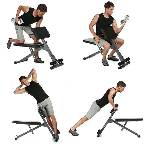 New Ancheer Stamina Pro Ab Bench Fitness Chair Core Strength Hyper Bench Multifunction Supine Dumbbell Fitness Machines for Home