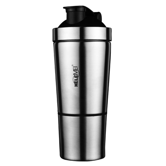 500ml Stainless Steel Protein Mixer Blender Shaker Shaking Cup Bottle Water Drinkware Barware Sports Fitness Gym Drinkware Tool