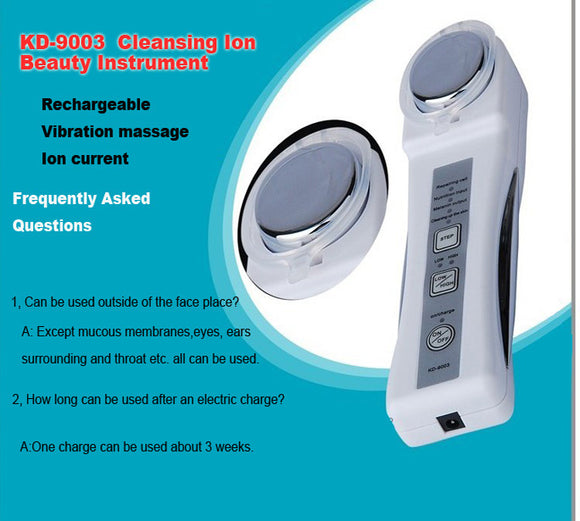Hot Sale Rechargeable Wrinkle Removal Machine Ion Face Lifting Portable Skin Whitening Galvanic Facial Equipment