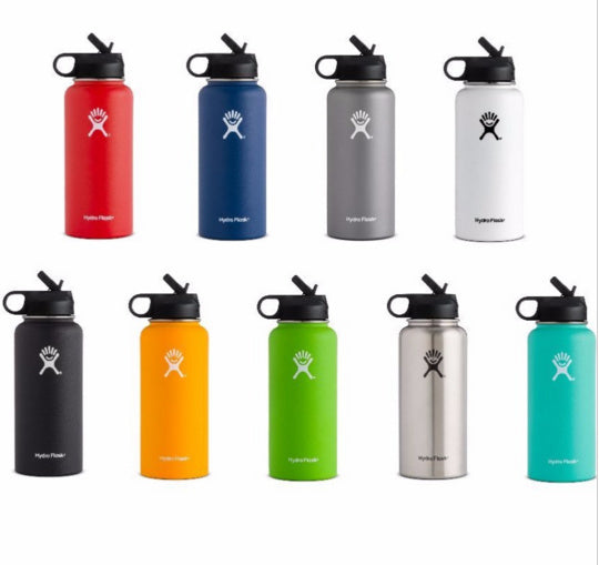 Hot!!!Hydro Flask 12oz/16oz/18oz/32oz/40oz64oz Vacuum Insulated Stainless Steel Water Bottle Wide Mouth