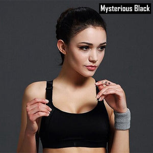 Top Brand Women Sports Bra  Shockproof  Underwear Wirefree Breathable Strength Elastic Gym Fitness Running Bra For Female