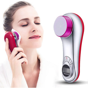 Electric Facial Cleaner Ultrasonic Massager Skin Care Body Beauty Machine for women man face washing blackhead pores remover