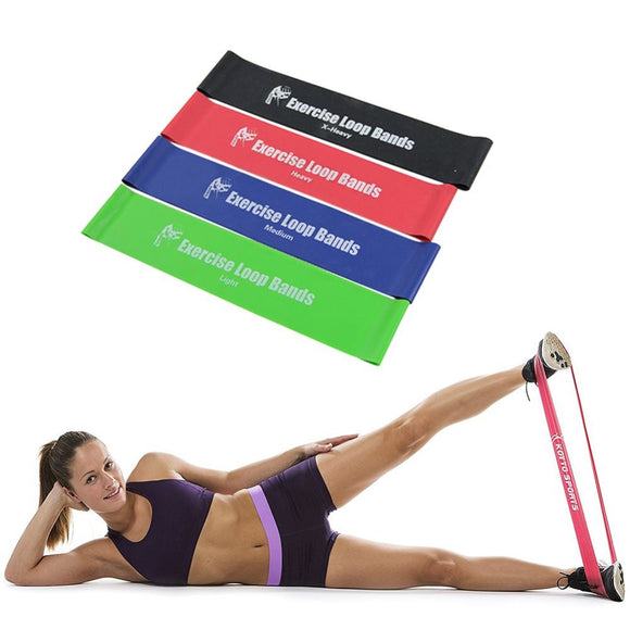 4pcs/Set Crossfit Resistance Bands Yoga Pilates Athletic Rubber Band Workout Latex Rubber Loops Gym Exercise Fitness Equipment