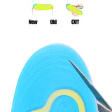 Insoles for Shoe Orthotic Arch Support Massaging Silicone Anti-Slip Gel Soft Sport Insole Pad Foot Care Gel Insole Men and Women