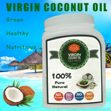 1000ml 32oz Free shipping food grade edible virgin coconut oil extract cold press cooking oil best coconut oil for skin