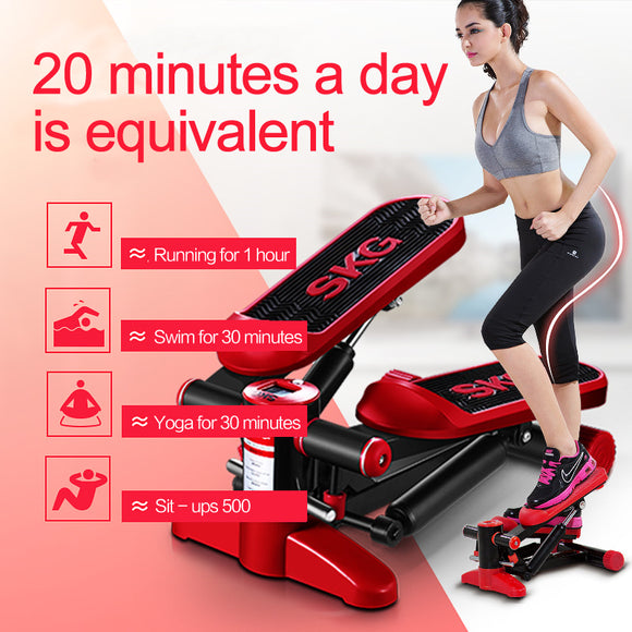 Mini treadmill pedal Shuangpai household hydraulic foot machine mute stairclimbers slimming fitness equipment