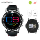 Android 3G Wrist Smartwatch Phone Bluetooth 4.0 2.0MP Camera WiFi GPS 1.2GHz 512MB 8GB SIM Card Smart Wrist Watch S1 Dial Call