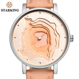 STARKING New Creative Design Watch Mineral Stylish Quartz Women Watch Casual Fashion Ladies Gift Wrist Watch Vintage Timepieces