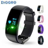 Diggro Dfit D21 Smart Bracelet Wristband Bluetooth IP68 Waterproof Monitor Sport Wristlet Activity Tracker VS Fit Bit Fitbits