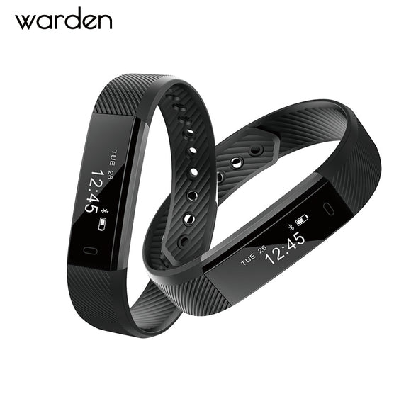 ID115 Smart Bracelet Fitness Tracker Step  Counter Activity Monitor Band USB charge Vibration Wristband for iphone Android phone