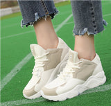 Air Mesh Summer Sneakers Women Casual Shoes Breathable Basket Trainers Wedges Women Canvas Shoes Creepers White Zapatos Mujer