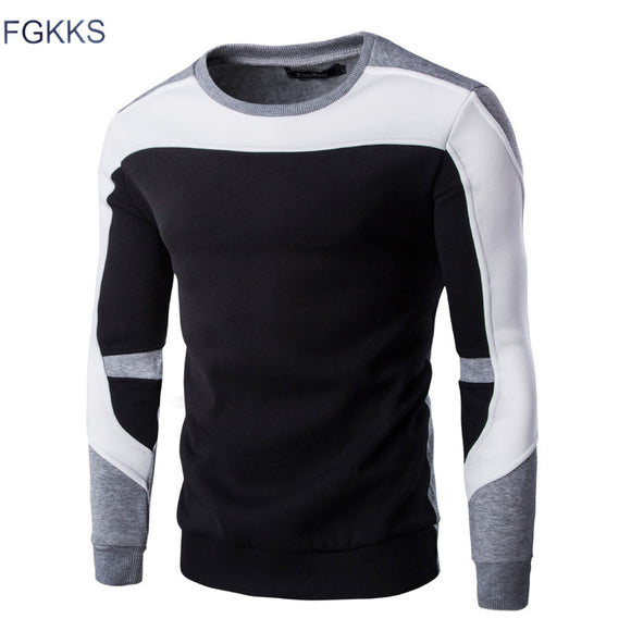 FGKKS 2017 New Arrival Spring Hoodie Sweatshirt Men Fashion Quality Cotton Hoodies Men Casual Hoody Sweatshirts Male Size M-2XL