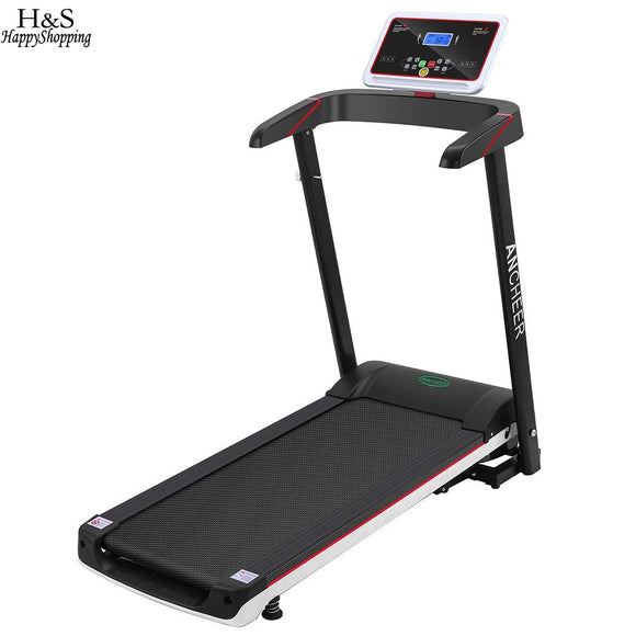 ANCHEER 2.5HP Black Foldable Electric Treadmill Exercise Equipment LCD Screen US Plug Walking Running Machine for Gym Home