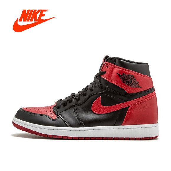 Original New Arrival Official Nike Air Jordan 1 OG Banned AJ1 Breathable Men's Basketball Shoes Sports Sneakers