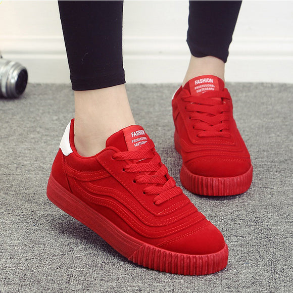 Women vulcanized shoes 2017 New Platform Women Casual Shoes Creepers Slip On Women shoes Fashion Ladies shoes Lace Up