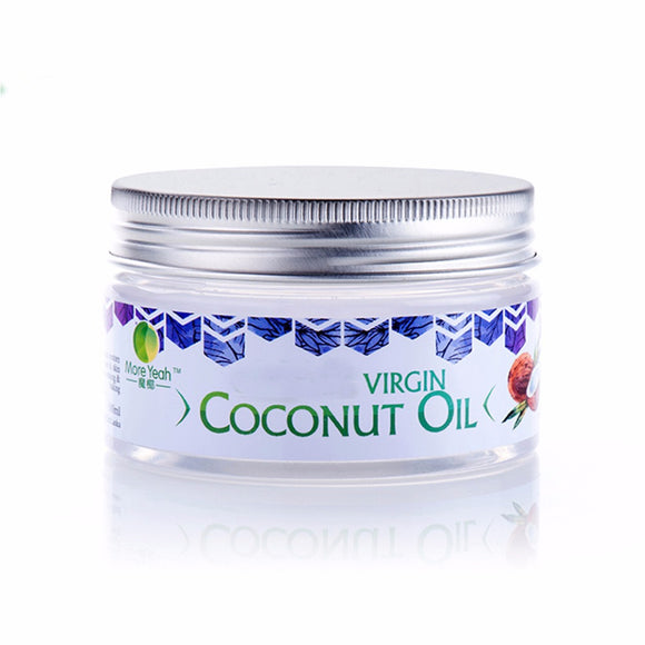 100ML VIRGIN Coconut Oil Extract Cold Pressed Natural Healthy Oil for Aromatherapy Hair&Skin Care /Makeup Remover/Body Massage