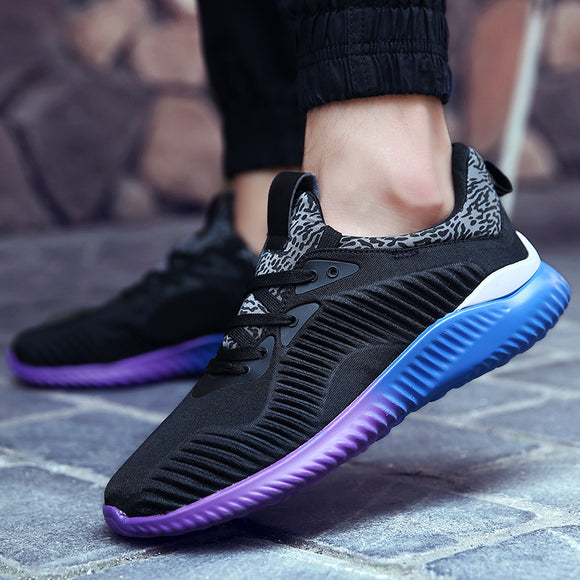 New Arrival Hot Style Men Running Shoes Lace Up Breathable Comfortable Sneakers Outdoor Walking Footwear
