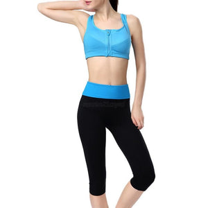 Women Yoga Running Pants High Waist Shorts Slim Sport Fitness Gym Pants Cropped Legging